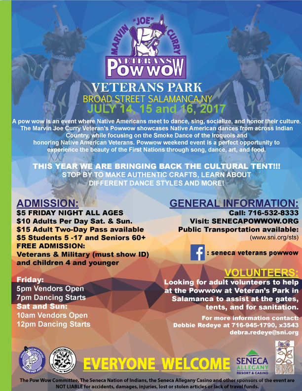 General Admission Information - Marvin Joe Curry Veterans Pow Wow
